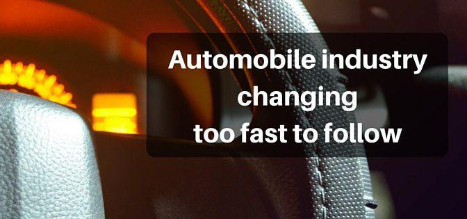 自動車業界の未来の上書きが早すぎて追いつけない